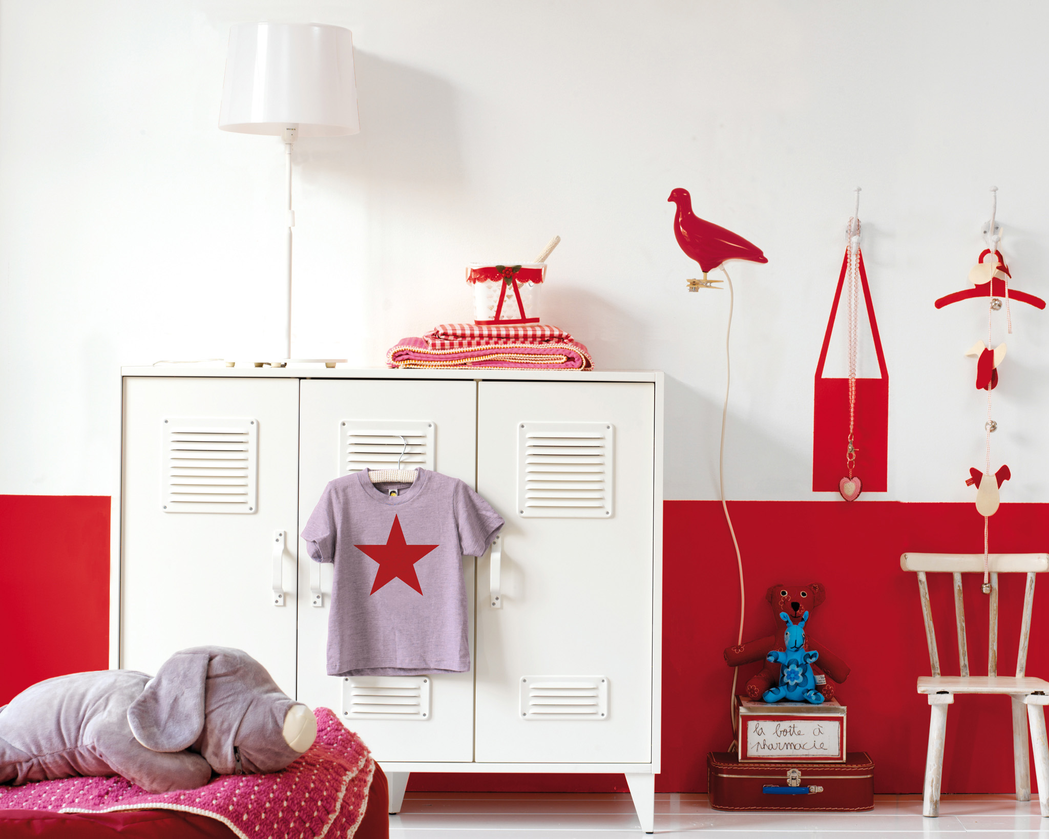 Try bold colours in your girl's bedroom for a stylish new look