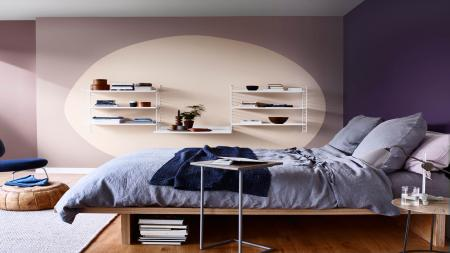Paint a bedroom in Heart Wood pink